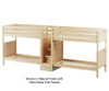 Maxtrix EXCELLENT Quadruple High Bunk Bed with Stairs Twin Size Natural | 26247 | MX-EXCELLENT-NX