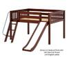 Maxtrix FANTASTIC Low Loft Bed with Slide Full Size White | Maxtrix Furniture | MX-FANTASTIC-WX