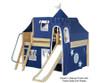 Maxtrix FANTASTIC Castle Low Loft Bed with Slide Full Size Chestnut 1 | 26254 | MX-FANTASTIC22-CX