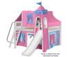 Maxtrix FANTASTIC Castle Low Loft Bed with Slide Full Size Chestnut 5 | 26262 | MX-FANTASTIC28-CX