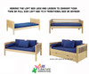 Maxtrix FANTASTIC Castle Low Loft Bed with Slide Full Size Natural 5 | Maxtrix Furniture | MX-FANTASTIC28-NX