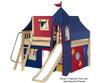 Maxtrix FANTASTIC Castle Low Loft Bed with Slide Full Size White 1 | 26267 | MX-FANTASTIC29-WX