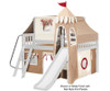 Maxtrix FANTASTIC Castle Low Loft Bed with Slide Full Size Chestnut 7 | 26268 | MX-FANTASTIC30-CX