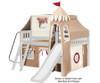 Maxtrix FANTASTIC Castle Low Loft Bed with Slide Full Size Natural 7 | 26269 | MX-FANTASTIC30-NX