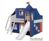 Maxtrix FANTASTIC Castle Low Loft Bed with Slide Full Size Chestnut 8   26271   MX-FANTASTIC42-CX