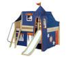 Maxtrix FANTASTIC Castle Low Loft Bed with Slide Full Size Natural 8 | Maxtrix Furniture | MX-FANTASTIC42-NX