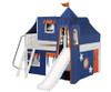 Maxtrix FANTASTIC Castle Low Loft Bed with Slide Full Size White 3 | Maxtrix Furniture | MX-FANTASTIC42-WX