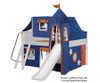 Maxtrix FANTASTIC Castle Low Loft Bed with Slide Full Size White 3 | 26273 | MX-FANTASTIC42-WX