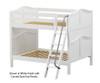 Maxtrix FAT Medium Bunk Bed Full Size White | Maxtrix Furniture | MX-FAT-WX