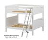 Maxtrix FAT Medium Bunk Bed Full Size White | 26282 | MX-FAT-WX