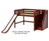 Maxtrix FINE Mid Loft Bed with Stairs and Slide Full Size Chestnut | 26284 | MX-FINE-CX