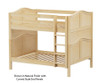 Maxtrix FIT Medium Bunk Bed Full Size Natural | Maxtrix Furniture | MX-FIT-NX