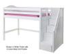 Maxtrix GALANT Mid Loft Bed with Stairs Twin Size Chestnut | Maxtrix Furniture | MX-GALANT-CX