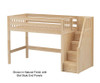 Maxtrix GALANT Mid Loft Bed with Stairs Twin Size Natural | 26292 | MX-GALANT-NX