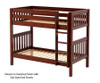 Maxtrix GETIT Medium Bunk Bed Twin Size Chestnut | 26298 | MX-GETIT-CX
