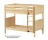 Maxtrix GETIT Medium Bunk Bed Twin Size Natural | 26299 | MX-GETIT-NX