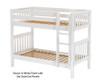Maxtrix GETIT Medium Bunk Bed Twin Size White   26300   MX-GETIT-WX