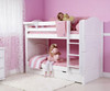 Maxtrix GETIT Medium Bunk Bed Twin Size White   Maxtrix Furniture   MX-GETIT-WX