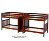 Maxtrix GIGA Quadruple High Bunk Bed with Stairs Full Size Chestnut | 26307 | MX-GIGA-CX