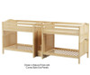 Maxtrix GIGA Quadruple High Bunk Bed with Stairs Full Size Natural | Maxtrix Furniture | MX-GIGA-NX