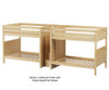 Maxtrix GIGA Quadruple High Bunk Bed with Stairs Full Size Natural | 26308 | MX-GIGA-NX