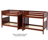 Maxtrix GIGA Quadruple High Bunk Bed with Stairs Full Size White | Maxtrix Furniture | MX-GIGA-WX