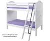 Maxtrix GOTIT Medium Bunk Bed Twin Size White   Maxtrix Furniture   MX-GOTIT-WX