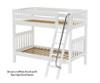 Maxtrix GOTIT Medium Bunk Bed Twin Size White   26317   MX-GOTIT-WX