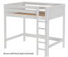 Maxtrix GRAND High Loft Bed Full Size White | 26320 | MX-GRAND-WX