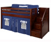 Maxtrix Low Loft Bed with Staircase - Chestnut   Matrix Furniture   MX-GREAT-CS