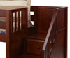 Maxtrix Low Loft Bed with Staircase - Chestnut   26321   MX-GREAT-CS