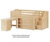Maxtrix GREAT Storage Low Loft Bed with Stairs & Desk Twin Size Natural | Maxtrix Furniture | MX-GREAT2L-NX