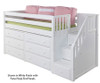 Maxtrix GREAT Storage Low Loft Bed with Stairs Twin Size Natural 1 | 26332 | MX-GREAT3-NX