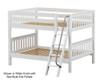 Maxtrix GULP Low Bunk Bed Full Size White | 26337 | MX-GULP-WX