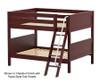 Maxtrix GULP Low Bunk Bed Full Size White | Maxtrix Furniture | MX-GULP-WX