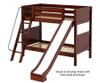 Maxtrix HAPPY Medium Bunk Bed w/ Slide Twin Size Natural | Maxtrix Furniture | MX-HAPPY-NX
