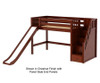 Maxtrix HERO Mid Loft Bed with Stairs and Slide Twin Size Chestnut | 26341 | MX-HERO-CX
