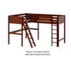 Maxtrix HIGHRISE Corner High Loft Bed Twin Size Chestnut | Maxtrix Furniture | MX-HIGHRISE-CX