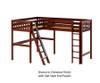 Maxtrix HIGHRISE Corner High Loft Bed Twin Size Chestnut | 26344 | MX-HIGHRISE-CX