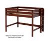 Maxtrix HIP Mid Loft Bed Full Size Chestnut | 26346 | MX-HIP-CX