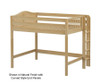 Maxtrix HIP Mid Loft Bed Full Size Natural | Maxtrix Furniture | MX-HIP-NX
