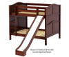 Maxtrix HIPHIP Medium Bunk Bed w/ Slide Full Size Chestnut | Maxtrix Furniture | MX-HIPHIP-CX