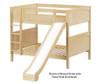 Maxtrix HIPHIP Medium Bunk Bed w/ Slide Full Size Natural | 26350 | MX-HIPHIP-NX