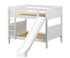 Maxtrix HIPHIP Medium Bunk Bed w/ Slide Full Size White | Maxtrix Furniture | MX-HIPHIP-WX