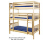 Maxtrix HOLY Triple Bunk Bed Twin Size Chestnut | 26355 | MX-HOLY-CX