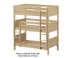 Maxtrix HOLY Triple Bunk Bed Twin Size Natural | 26356 | MX-HOLY-NX