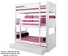 Maxtrix HOLY Triple Bunk Bed Twin Size White | 26357 | MX-HOLY-WX
