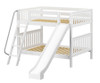 Maxtrix HOORAY Medium Bunk Bed w/ Slide Full Size White | Maxtrix Furniture | MX-HOORAY-WX