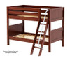 Maxtrix HOTHOT Low Bunk Bed Twin Size Chestnut | 26365 | MX-HOTHOT-CX