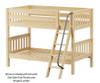Maxtrix HOTHOT Low Bunk Bed Twin Size Natural | 26366 | MX-HOTHOT-NX